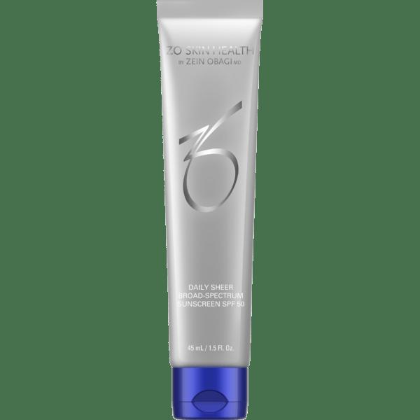 Produktbild einer Tube mit ZO Skin Daily Sheer Broad Spectrum SPF 50