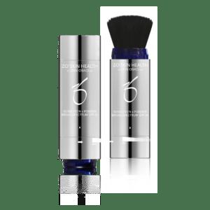 Produktbild eines Puder-Pinsels mit Sunscreen + Powder Deep SPF 30